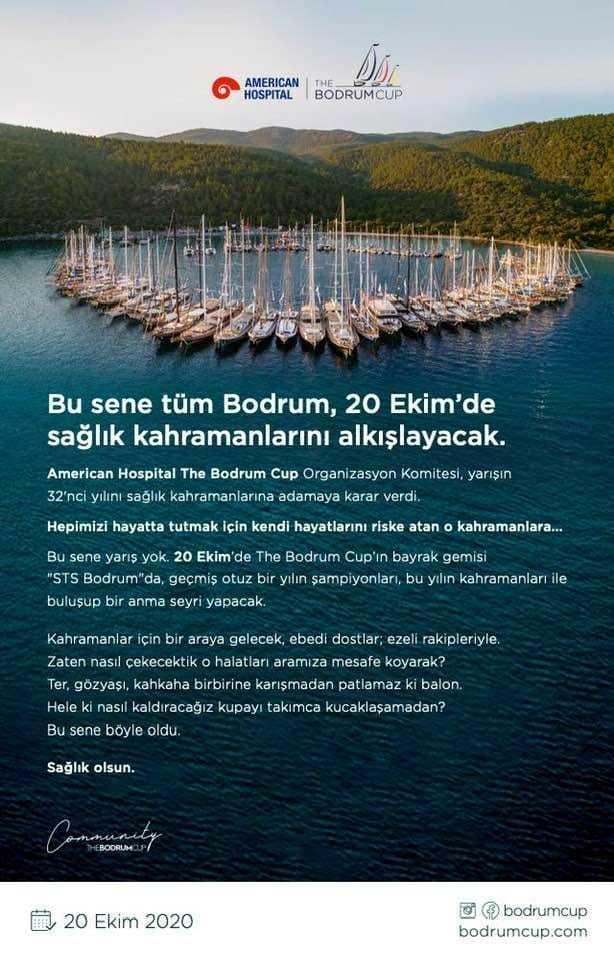 Akdeniz'in en büyük yelken festivali The Bodrum Cup 32'nci yılını sağlık kahramanlarına adıyor.